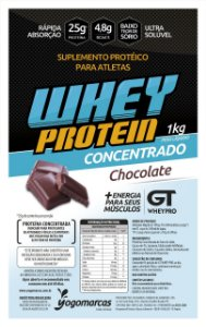 Whey Protein Concentrada GT Whey  Sabor Chocolate