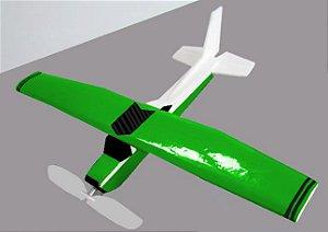 aeromodelo cessna 152 verde refletivo