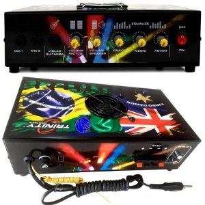 Amplificador de Mesa Trinity Turbo Dance 300W RMS para Microfone Guitarra Festas Dj Funk Rock Gospel
