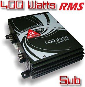 Módulo Amplificador Alfa Amps 400W RMS 1 Canal Mono Para Subwoofer