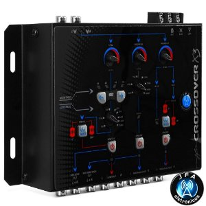 Crossover Digital Eletrônico JFA de 3 Vias X3 Corte 24db/8ª - Evita a Queimas no Som