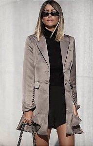 Coat / Vestido com botões e babados