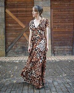 Vestido longo oncinha