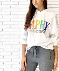 Blusa de moletom Happy