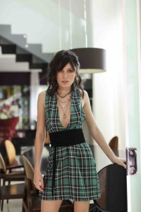 Vestido curto xadrez