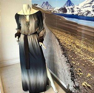 Vestido longo tie dye
