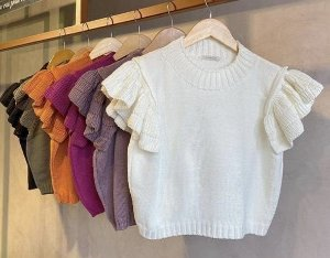 Cropped Tricot Babados
