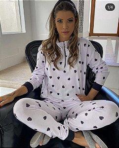Pijama Coração Branco