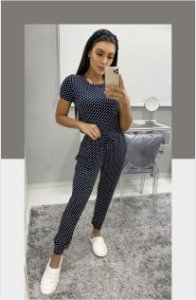 Conjunto/Pijama Poá