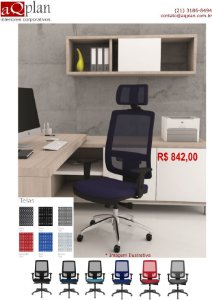 003- Cadeira Presidente Ergonômica de Tela