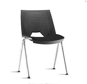 Cadeira Empilhável Strike. Confortável e com várias cores.
