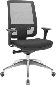 Cadeira Presidente BRIZZA Tela Ergonômica Base Alumínio