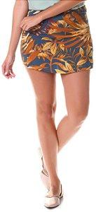 Shorts Saia em Twim - Estampada Azul