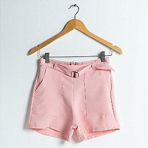Shorts Bolso Cargo Alfaiataria - Rosa