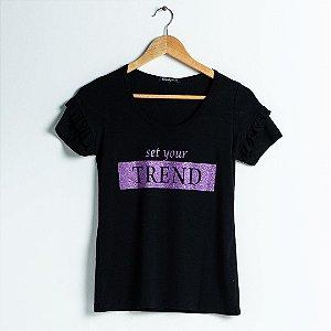 T-Shirt Viscolycra - Preta