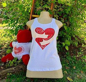 Regata Coração Cheio de Amor