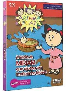 DVD Histórias da Bíblia Carinhas Legais - Miriam e Moisés