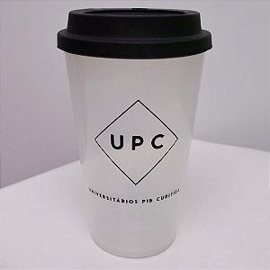Copo UPC transparente Com Tampa - Universitários PIB Curitiba