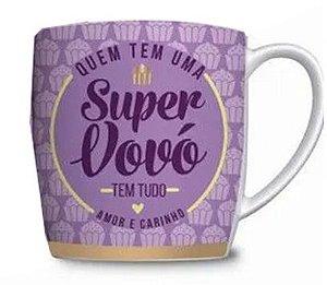 Caneca Porcelana Na Caixa - Presente Super Vovó