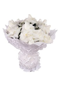 Buquê de Flores Encanto de colombianas brancas