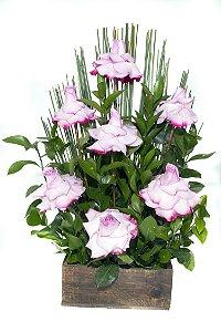 Arranjo de Flores Affetto di fiori lilás