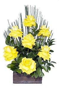 Arranjo de Flores Affetto di fiori amarelo
