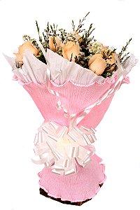 Buquê de Flores Champagne roses