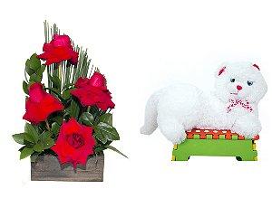 Arranjo de Flores Sabor da Paixão + Gata Mel