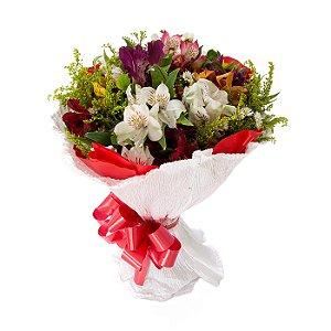 Buquê de Flores Fagulha de Alstromélias
