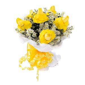 Buquê de Flores Encanto com 6 colombianas amarelas
