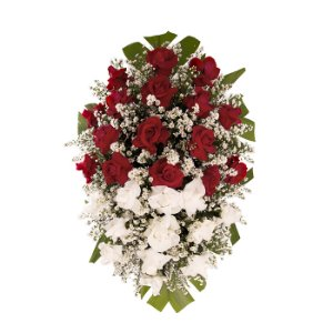 Coroa Funerária Pequena de Rosas 70cm