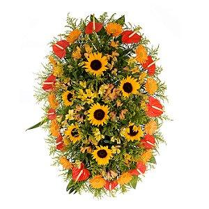 Coroa Funerária Grande Tropical 130cm