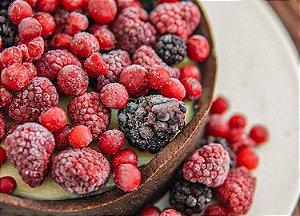 Torta com delicioso creme de  baunilha com berries,  massa feita com cacau ,730 g , vem congelada .Serve 8 fatias.