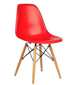 Cadeira Charles Eames New Wood Preta ou Vermelha