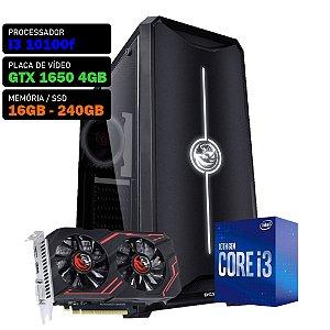 COMPUTADOR KADIN GAMER I3 10100F / GTX 1650 4GB / 16GB DDR4 / SSD 240GB / 500W 80+ / NOVA