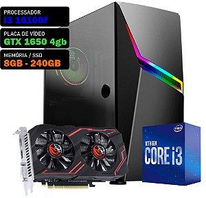 COMPUTADOR KADIN GAMER I3 10100F 3.6GHZ, GTX 1650 4GB, 8GB DDR4, SSD 240GB, 500W, ASHE