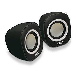 CAIXA DE SOM OEX ROUND X PARA PC 8W PT/BR SK100