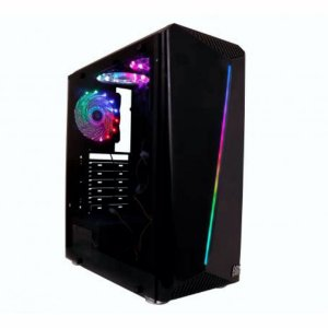 GABINETE SHELTER PRETO GH200 C/ 3 FAN RGB OEX GAME ***COM AVARIA***