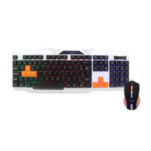 KIT TECLADO E MOUSE GAMER LUMI USB C FIO TM300 OEX GAME