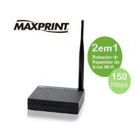 ROTEADOR 2EM1 150MBPS ANT FIXA MAXLINK MAXPRINT