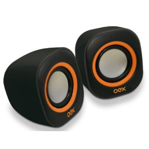CAIXA DE SOM 8W SPEAKER ROUND PT/LR SK100 OEX