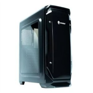 GABINETE EVOLUT EG-801 HALO BK S/ FAN