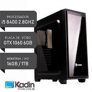 COMPUTADOR I5 8400 2.8GHZ / 16GB DDR4 / GTX1060 6GB / HD 1TB