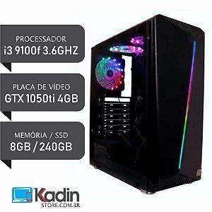 COMPUTADOR I3 9100F / GTX1050TI 4GB / 8GB DDR4 / SSD 240GB