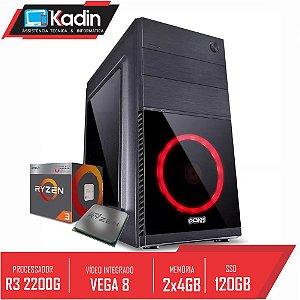 COMPUTADOR RYZEN 3 2200G / VEGA 8 / 2X 4GB DDR4 / SSD 120GB