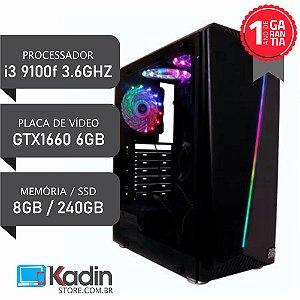 COMPUTADOR I3 9100F / GTX1660 6GB / 8GB DDR4 / SSD 240GB