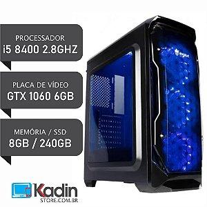 COMPUTADOR I5 8400 2.8GHZ / 8GB DDR4 / GTX1060 6GB / SSD 240GB