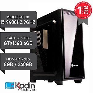 COMPUTADOR I5 9400F / GTX1660 6GB / 8GB DDR4 / SSD 240GB