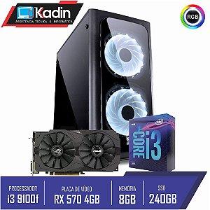COMPUTADOR I3 9100F / RX 570 4GB / 8GB DDR4 / SSD 240GB