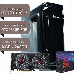 COMPUTADOR I7 8700 / GTX1660 SUPER 6GB / 16GB DDR4 / SSD 240GB